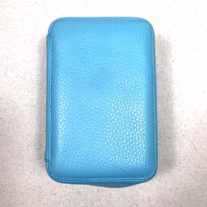 Trish McEvoy Turquoise Blue Leather Small Planner
